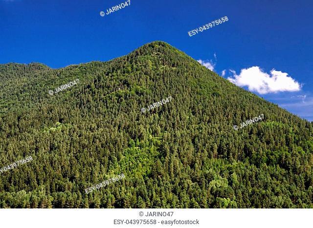Top of the hill Cebrat in town Ruzomberok at Slovakia