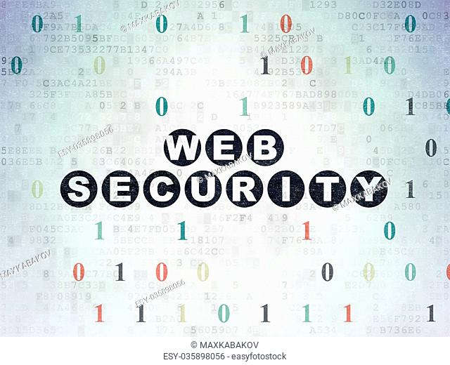 Web development concept: Web Security on Digital Data Paper background