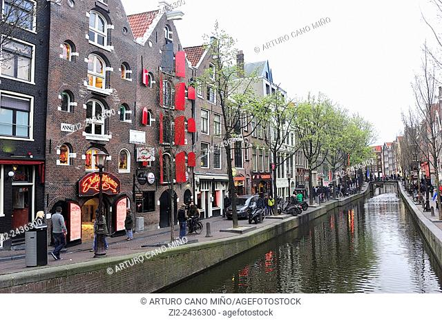 The Red Light District. Amsterdam, Netherlands