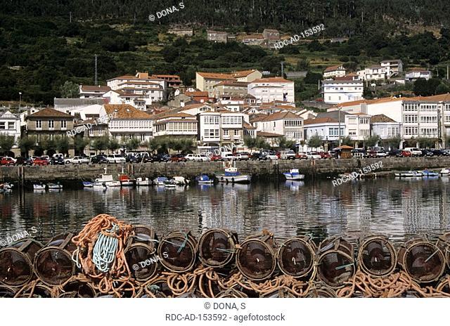 Fishing nets Muros Rias Baixas Galicia Spain