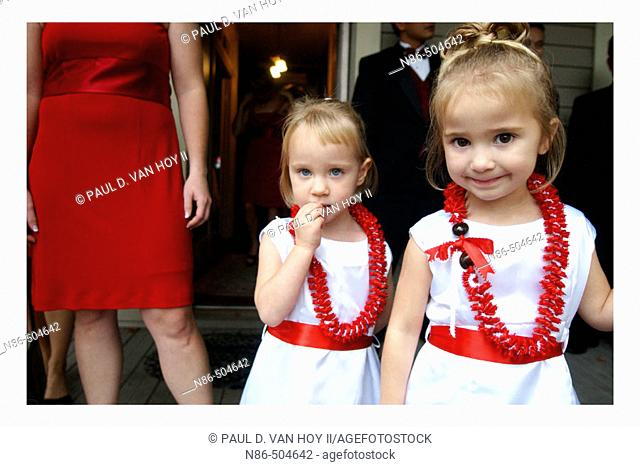 Flower girls, wedding