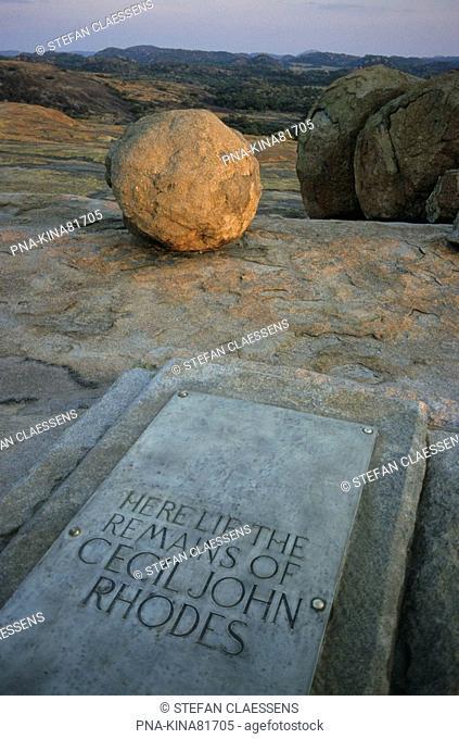 Matopos national park, Malindidzimu Mountain, Cecil Rhodes' grave, Matobo Hills, Bulawayo, Zimbabwe, Africa