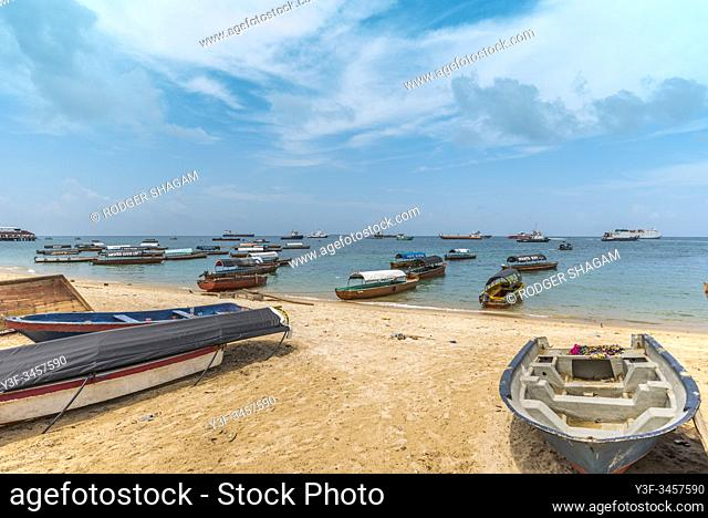 Zanzibar. Boats used to ferry tourists to various local islands whcih have historical tourist attrections