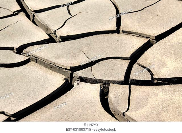 cracked land inrural areas, northern China