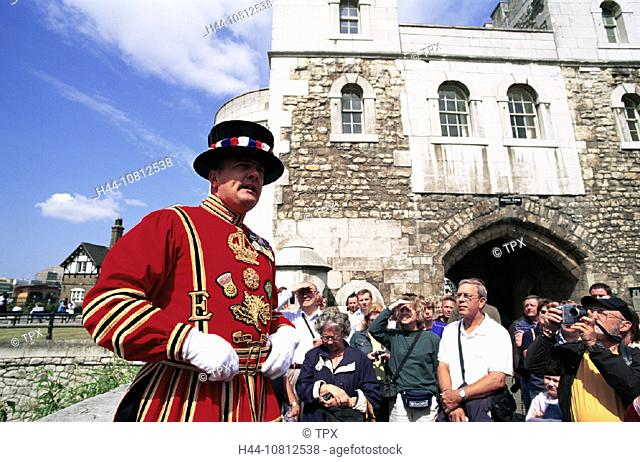 Beefeater, Britain, British Isles, City, Costume, England, Great Britain, Europe, Historical, History, London, Peopl