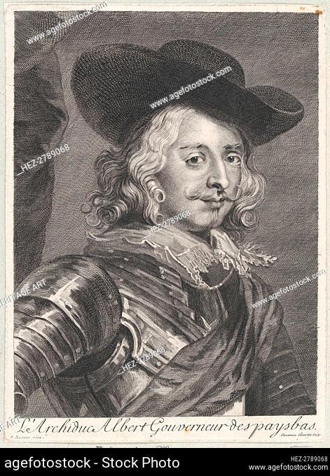 Portrait of Cardinal-Infante Ferdinand of Austria, ca. 1710-38. Creator: Suzanne Elizabeth Silvestre