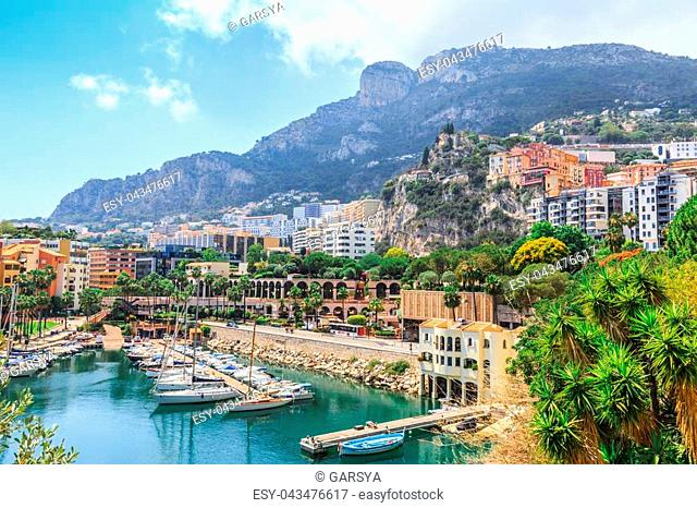 Monaco Monte Carlo sea view with yachts