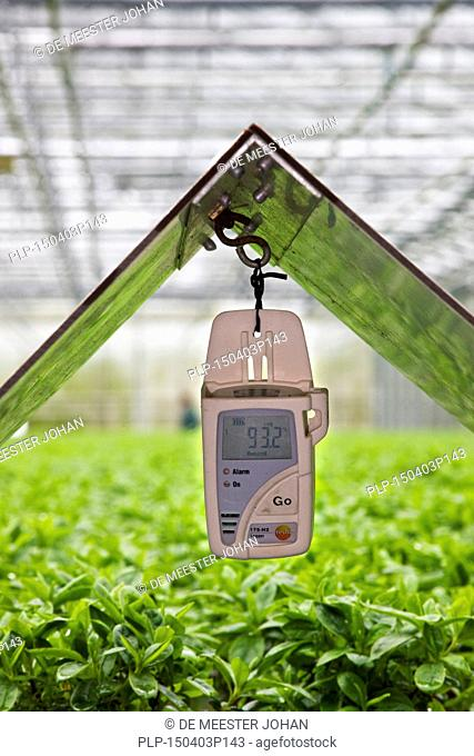 Temperature and humidity data logger in greenhouse