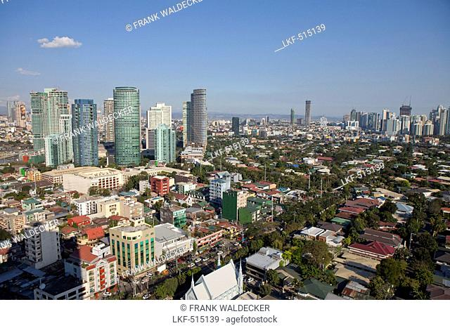 Makati City, the financial and business district in the center oft he capital Metro Manila, Phillipines, Asia