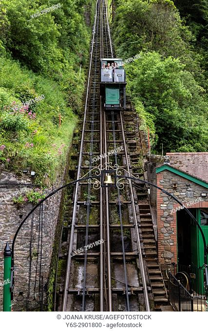 Lynmouth, Cliff Railway, Exmoor, Devon, England, UK