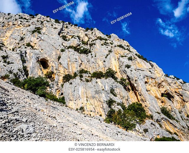 famous gorges of Gorropu in Sardinia, Italy