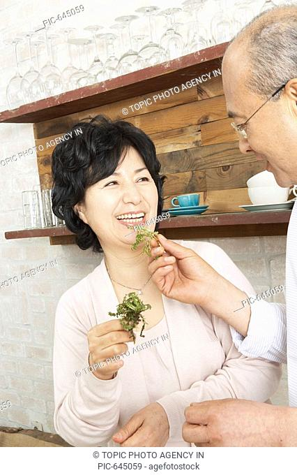 Middle-aged Korean Couple