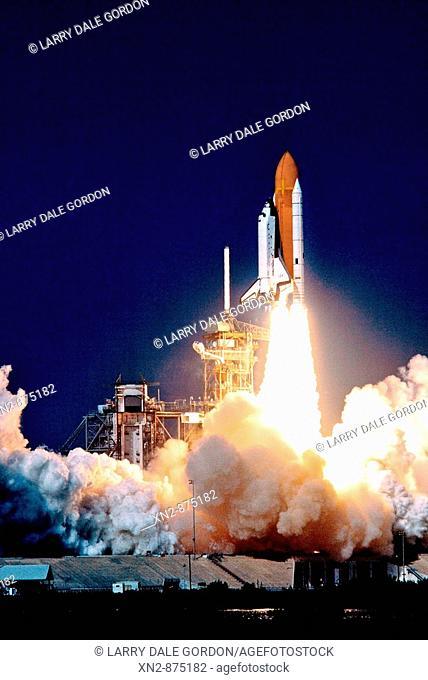 United States. NASA Cape Kennedy. Shuttle Columbia liftoff