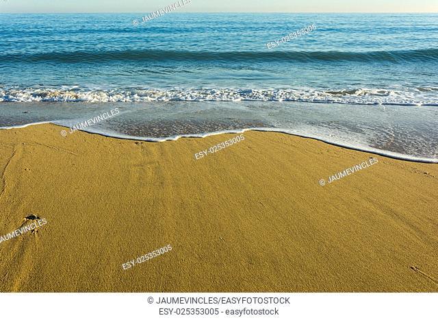 Beach, Caldes d'Estrac, Barcelona province, Spain
