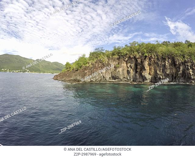 Coast in Martinique island Caribbean sea
