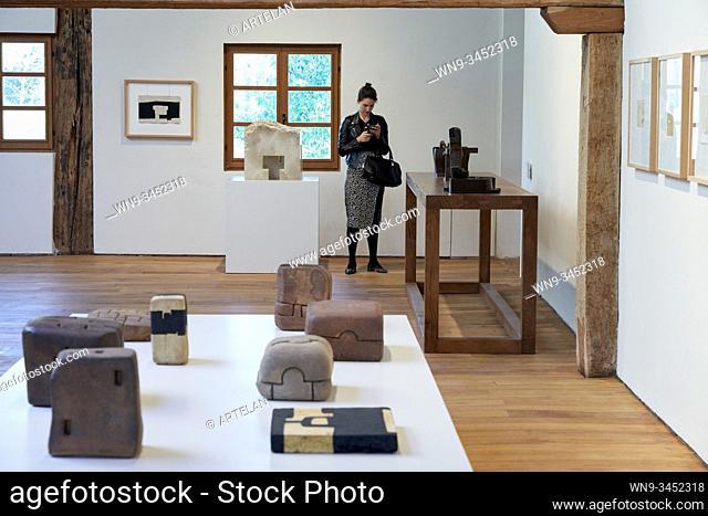 """""""Earth and Oxides, Chamotte clay and copper oxide"""", 1979-1995, Eduardo Chillida (1924-2002), Chillida Leku Museoa, Donostia, San Sebastian, Basque Country"