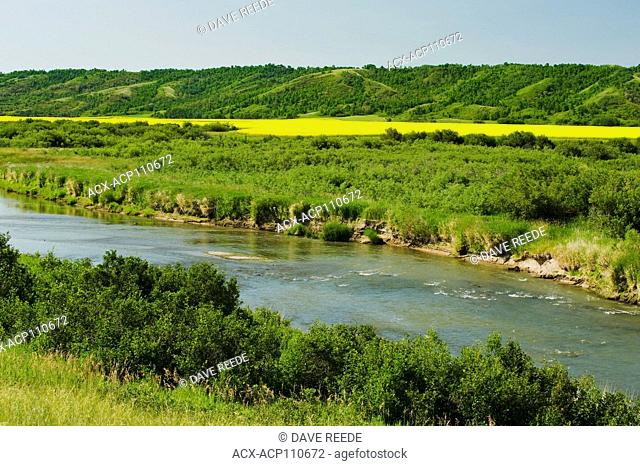 Qu'Appelle River, the Qu'Appelle River Valley, Saskatchewan, Canada