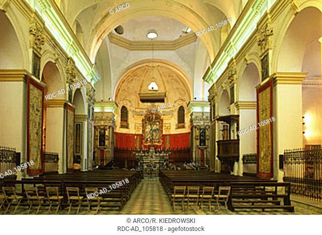 Interior of basilica Santa Croce Bosco Marengo Piemont Italy