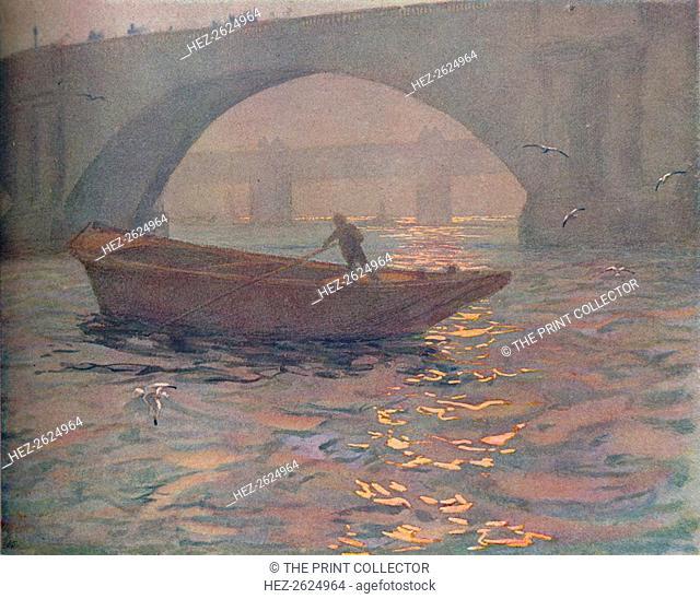 'Waterloo Bridge', c1910. Artist: Edward Louis Lawrenson