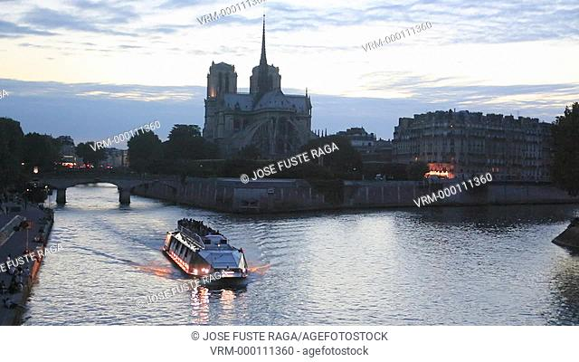 France , Paris City, Notre Dame Cathedral