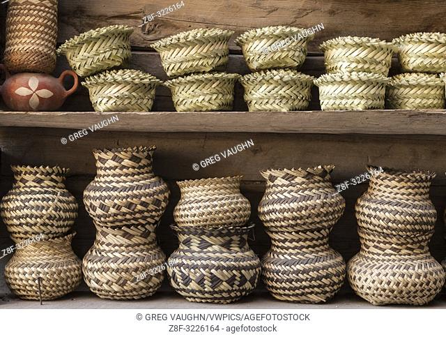 Tarahumara woven baskets; Copper Canyon, Chihuahua, Mexico