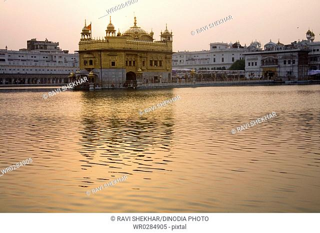 Harimandir Sahib swarn mandir or golden temple , Amritsar , Punjab , India