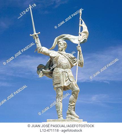 Monument to Pedro Estopiñan, conqueror of Melilla. Melilla, Spain