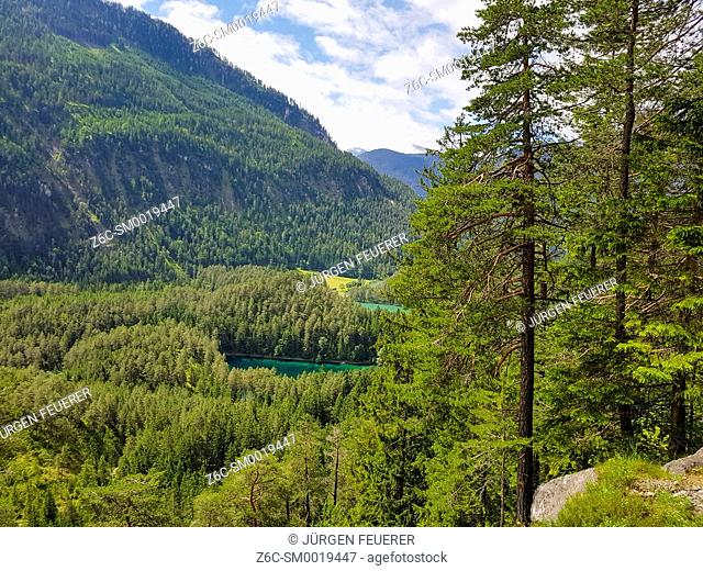 Fernsteinsee at the Fernpass, near Ehrwald, Germany and Imst in Austria