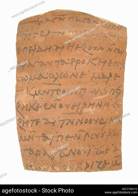 Ostrakon with a Letter from John to Moses, Coptic, 600. Creator: Unknown