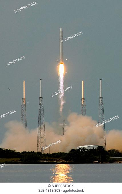 The Space Exploration Technologies SpaceX Falcon 9 rocket launches for the first time, from Pad 40 at Cape Canaveral Air Force Station, Florida
