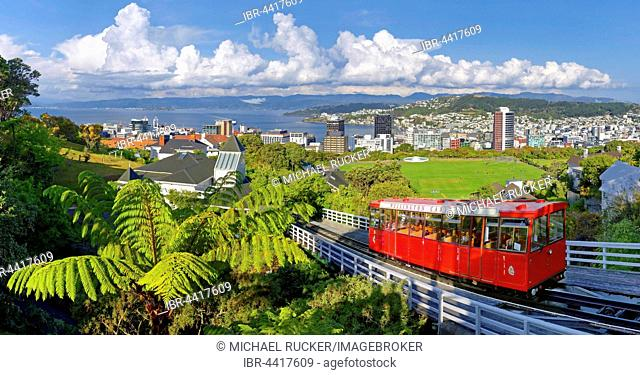 Historic cable car of Wellington, North Island, New Zealand