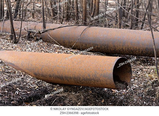 Khanty - Mansiysk Autonomous Okrug-Yugra. Scrap metal in the environment