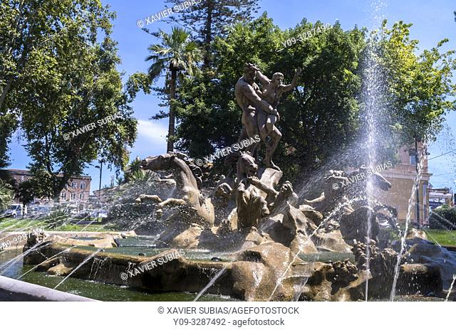 Proserpine fountain, Catania, Sicily, Italy