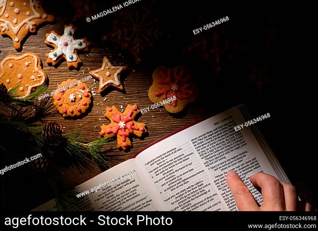 Gingerbread Christmas Cookie and Hope from Bible