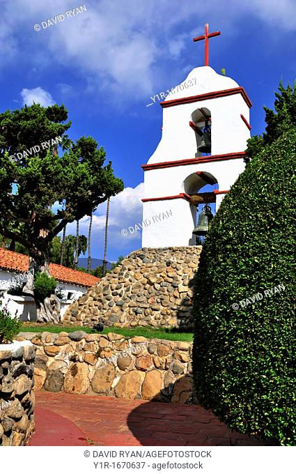 California, Pala, Mission San Antonio de Pala, Founded in 1816, The Original Bell Tower, Built separate from the church, Pala Indian Reservation