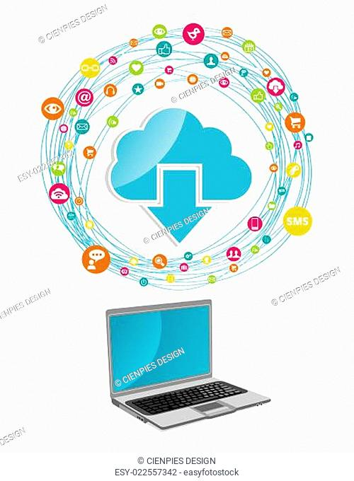 Cloud computing network concept