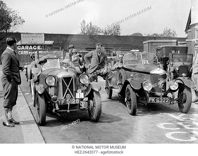 Cars at the North West London Motor Club Trial, Osterley Park Hotel, Isleworth, 1 June 1929. Artist: Bill Brunell
