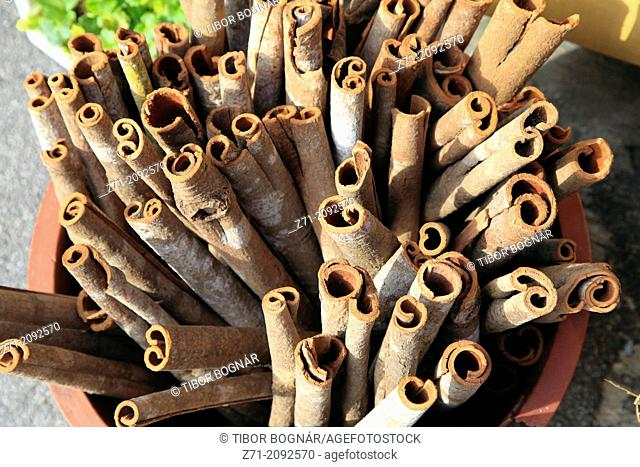 South Korea, Busan, Jagalchi Market, cinnamon,