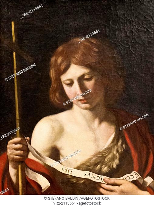 St John the Baptist, 1645, Giovanni Francesco Barbieri known as Guercino, 1591-1666, oil on canvas, Capitoline Museums, Rome, Italy