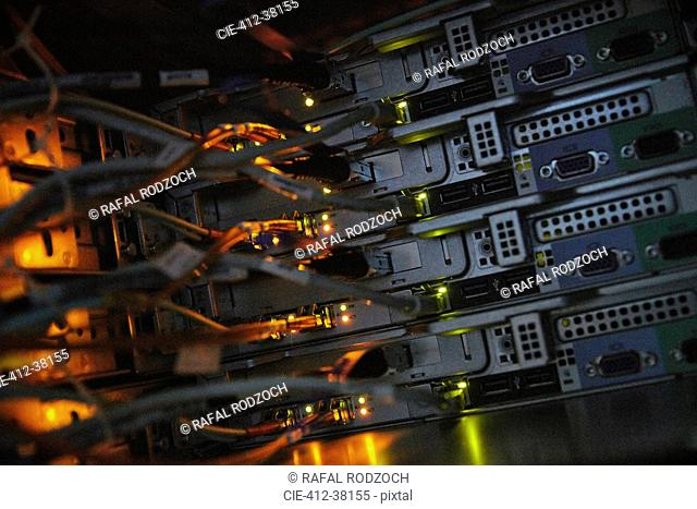 Server panels and cables