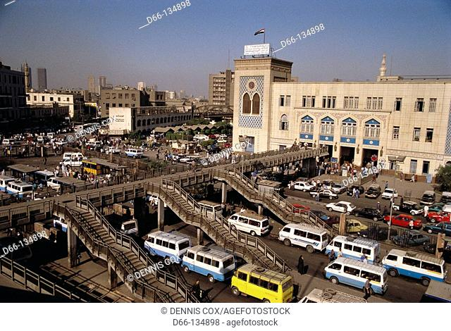 Train station in Ramses Square, Cairo. Egypt