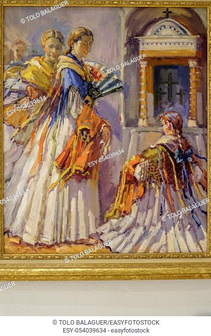 Sant Miquel, oleo sobre tela, Narcís Puget Viñas, museo Puget, can Comasema, casa del siglo XV, Ibiza, balearic islands, Spain