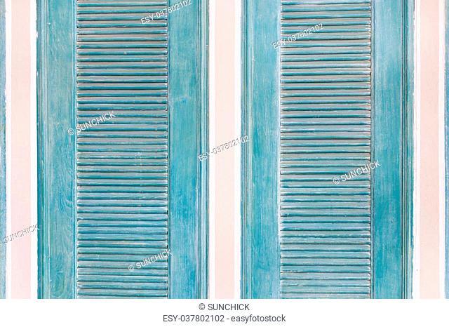 blue window,vintage window