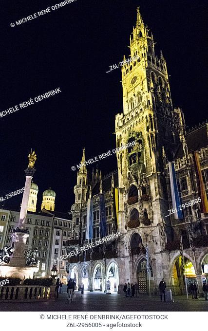 St Peter's church clock tower landmark in Munich Germany Oktoberfest