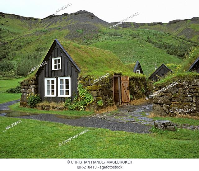 An old farmhouse in the open air museum of Skogar, Iceland