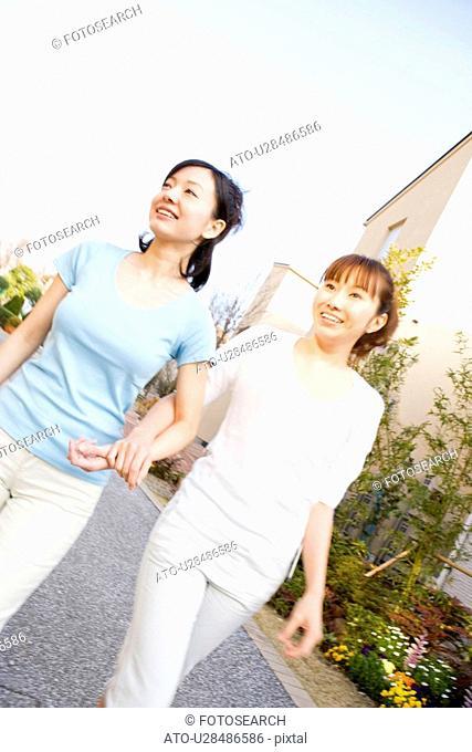 Women taking a walk