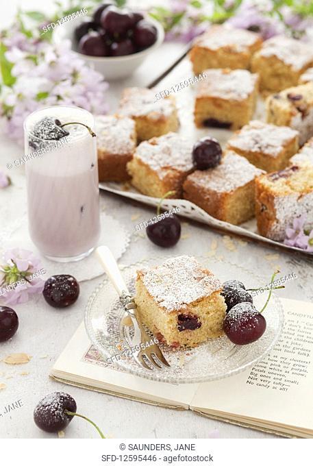 Gluten Free Cherry and Almond Sponge Cake