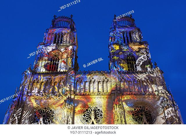 Spectacle at the cathedral of Orleans, Centre-Val de Loire, France