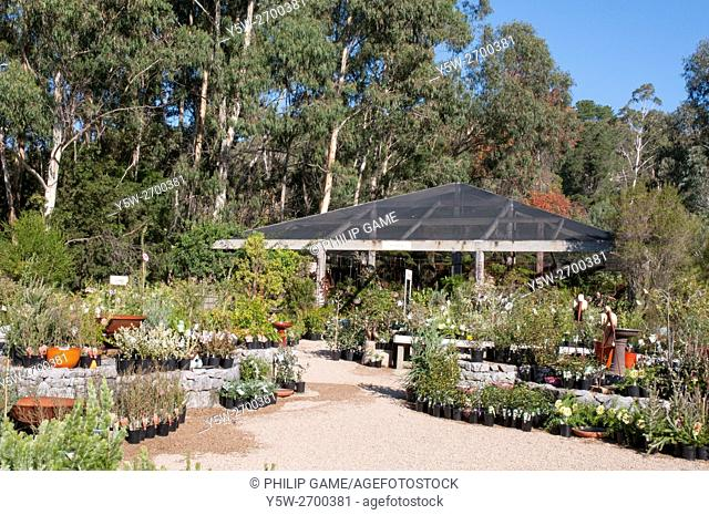 Grounds of the Kuranga Native Nursery at Mt Evelyn in the Yarra Valley, Victoria, Australia