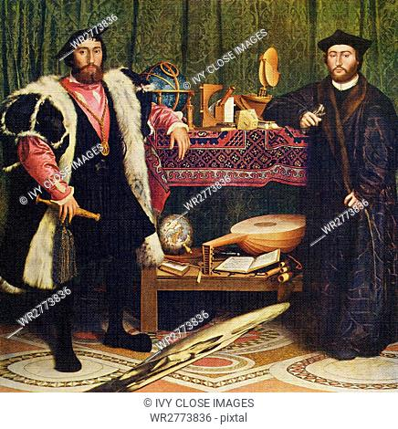 Hans Holbein the Younger (1497-1543) was an outstanding artist of German Renaissance. He spent early half of life in Basel, where he was friends with Erasmus